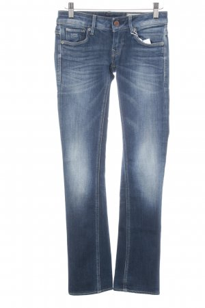 G-Star Raw Straight-Leg Jeans dunkelblau-kornblumenblau Used-Optik