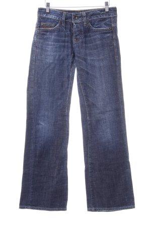 G-Star Raw Straight-Leg Jeans dunkelblau Street-Fashion-Look