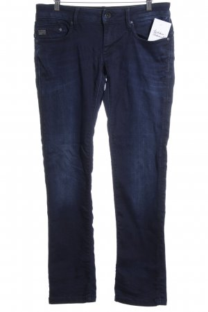 G-Star Raw Straight-Leg Jeans dunkelblau-wollweiß Washed-Optik