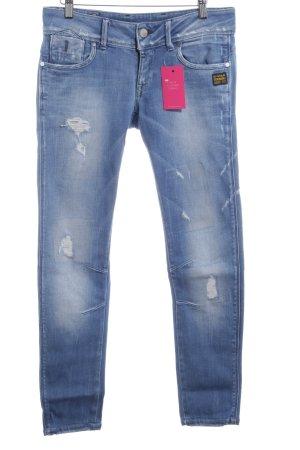 G-Star Raw Straight-Leg Jeans himmelblau Urban-Look