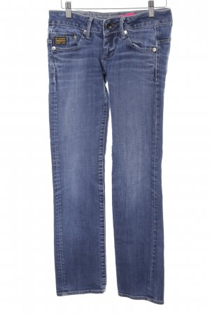 G-Star Raw Straight-Leg Jeans kornblumenblau Washed-Optik