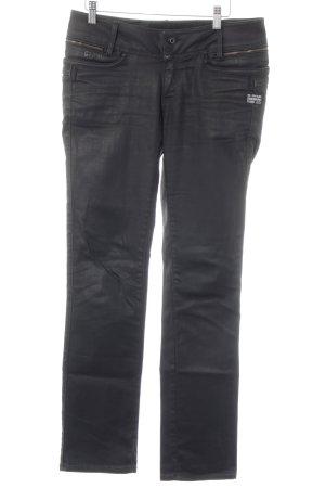 G-Star Raw Straight-Leg Jeans schwarz Biker-Look