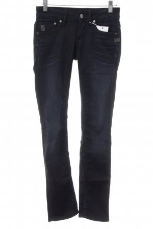 G-Star Raw Straight-Leg Jeans schwarz-dunkelblau Washed-Optik
