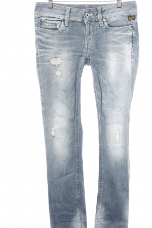 G-Star Raw Straight-Leg Jeans stahlblau Destroy-Optik