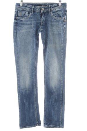 G-Star Raw Straight-Leg Jeans stahlblau Washed-Optik