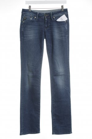 G-Star Raw Straight-Leg Jeans stahlblau-weiß Casual-Look