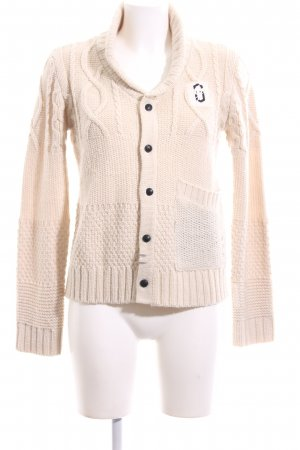 G-Star Raw Strickjacke creme Zopfmuster Casual-Look