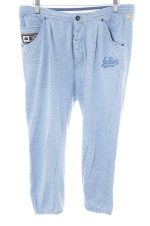 G-Star Raw Pantalon de jogging bleu acier-blanc moucheté style décontracté