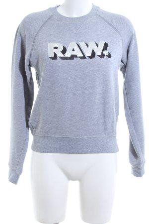 G-Star Raw Sweatshirt hellgrau meliert Casual-Look