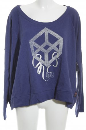 G-Star Raw Sweatshirt dunkelviolett Motivdruck Casual-Look