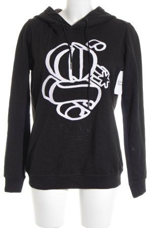 G-Star Raw Sweatshirt schwarz-weiß grafisches Muster Casual-Look