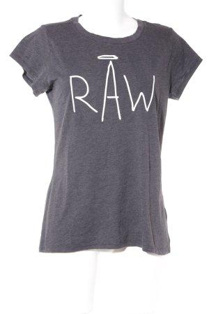 G-Star Raw T-Shirt anthrazit meliert Logoprint