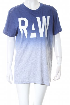 G-Star Raw T-Shirt blau-grau Farbverlauf Casual-Look