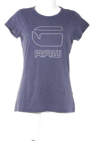 G-Star Raw T-Shirt dunkelblau meliert Logoprint