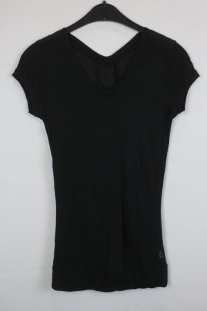 G-Star RAW T-Shirt Gr. S schwarz Knopfleiste (18/3/244)