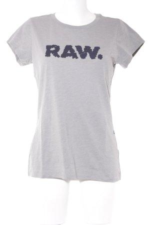 G-Star Raw T-Shirt grau meliert schlichter Stil