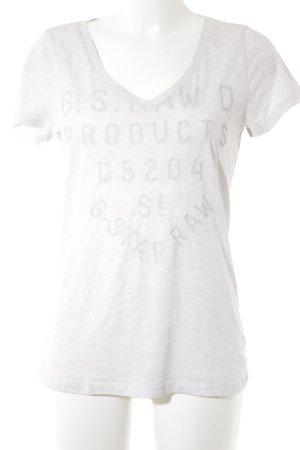G-Star Raw T-Shirt hellgrau meliert Casual-Look