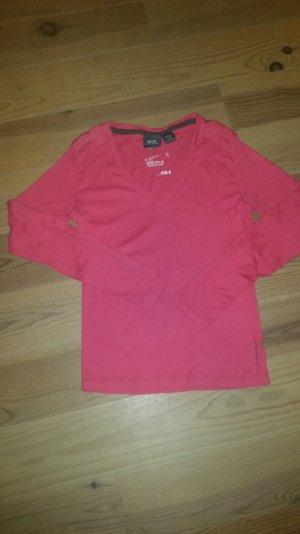 G-Star Raw T-Shirt in lila mit V-Ausschnitt