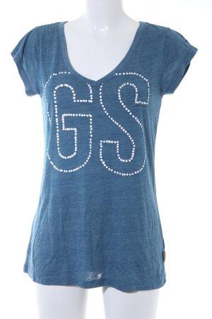 G-Star Raw T-Shirt kornblumenblau meliert Casual-Look