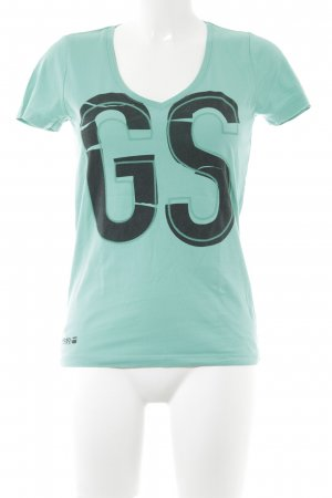 G-Star Raw T-Shirt mint Motivdruck Casual-Look
