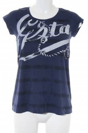 G-Star Raw T-Shirt Motivdruck Casual-Look