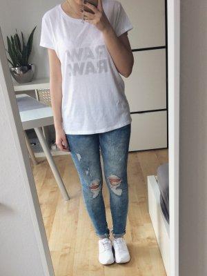 G-Star Raw T-Shirt Shirt Basic weiß Neu mit Etikett Gr. XS Saal Straight Wmn