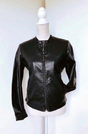 G-Star RAW *Tec Chopper Jacket* Jacke Lederjacke Bikerjacke Kunstleder schwarz - Größe M (38)