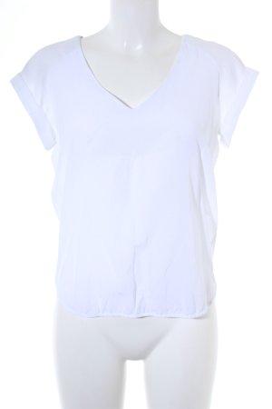 G-Star Raw V-Ausschnitt-Shirt weiß Materialmix-Look