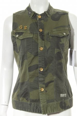 G-Star Raw Weste dunkelgrün Camouflagemuster Military-Look