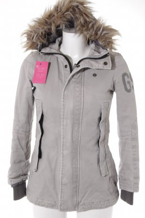 G-Star Raw Winterjacke hellgrau Casual-Look