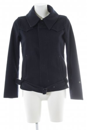 G-Star Raw Wollen Jack donkerblauw-donkergrijs casual uitstraling