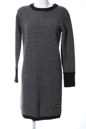 G-Star Raw Wollkleid schwarz-weiß Allover-Druck Business-Look
