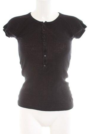 G-Star Rippshirt schwarz Casual-Look