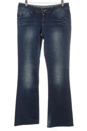 G-Star Broek met wijd uitlopende pijpen blauw Jeans-look