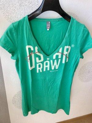 G-Star Shirt in auffallendem Grün/Türkis in Größe L