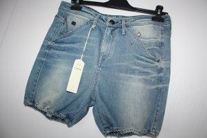 G-Star Raw Pantaloncino di jeans blu Cotone