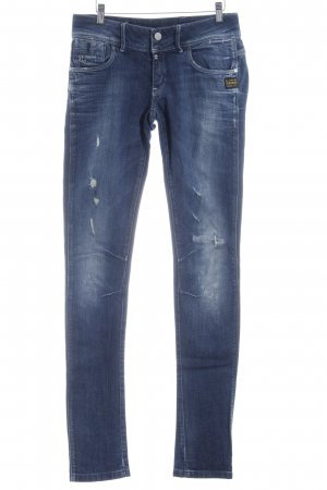 G-Star Skinny jeans blauw casual uitstraling