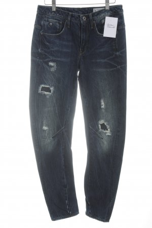 G-Star Skinny Jeans blau Destroy-Optik