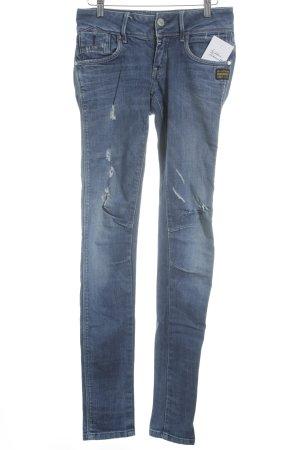 G-Star Skinny Jeans blau-silberfarben Casual-Look