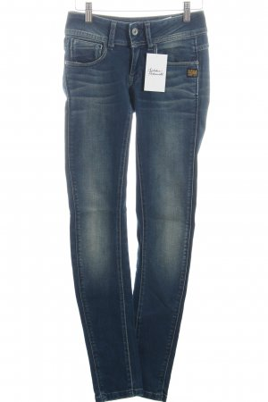 G-Star Skinny Jeans dunkelblau Used-Optik