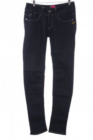 G-Star Skinny jeans donkerblauw-wit casual uitstraling
