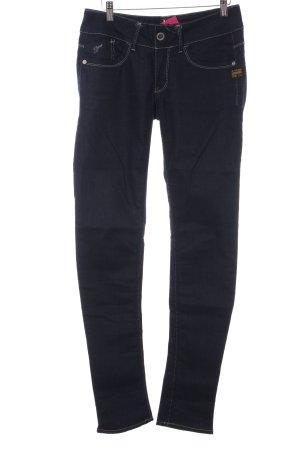 G-Star Skinny Jeans dunkelblau-weiß Casual-Look