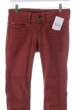 G-Star Skinny Jeans dunkelrot Casual-Look