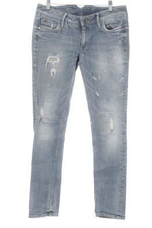 G-Star Skinny Jeans graublau-hellbeige Casual-Look
