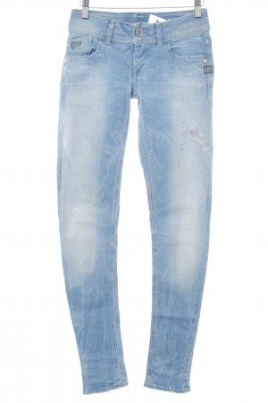 G-Star Skinny jeans azuur casual uitstraling