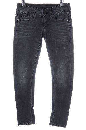 G-Star Skinny jeans zwart gewassen uitstraling
