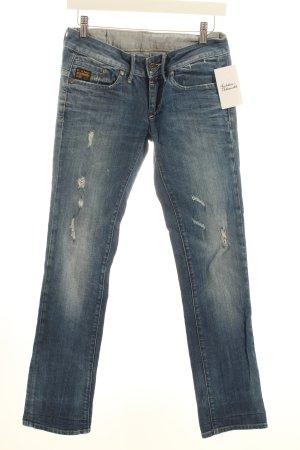 G-Star Slim Jeans blau Logostickerei