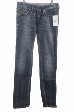 G-Star Slim Jeans blau-wollweiß Casual-Look