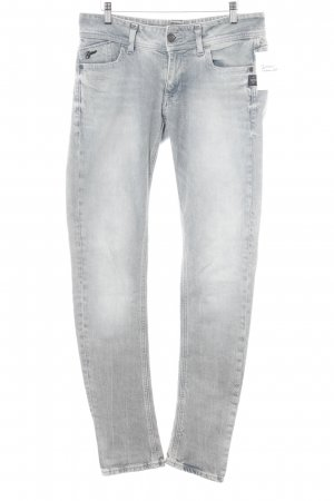 G-Star Slim Jeans hellgrau-himmelblau Street-Fashion-Look