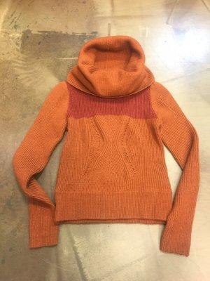 """G-Star Stirckpullover """"Cavalry Coll Knit WMN"""" Winter Pullover großer Kragen Gr. XS 34 Alpaca Wolle"""